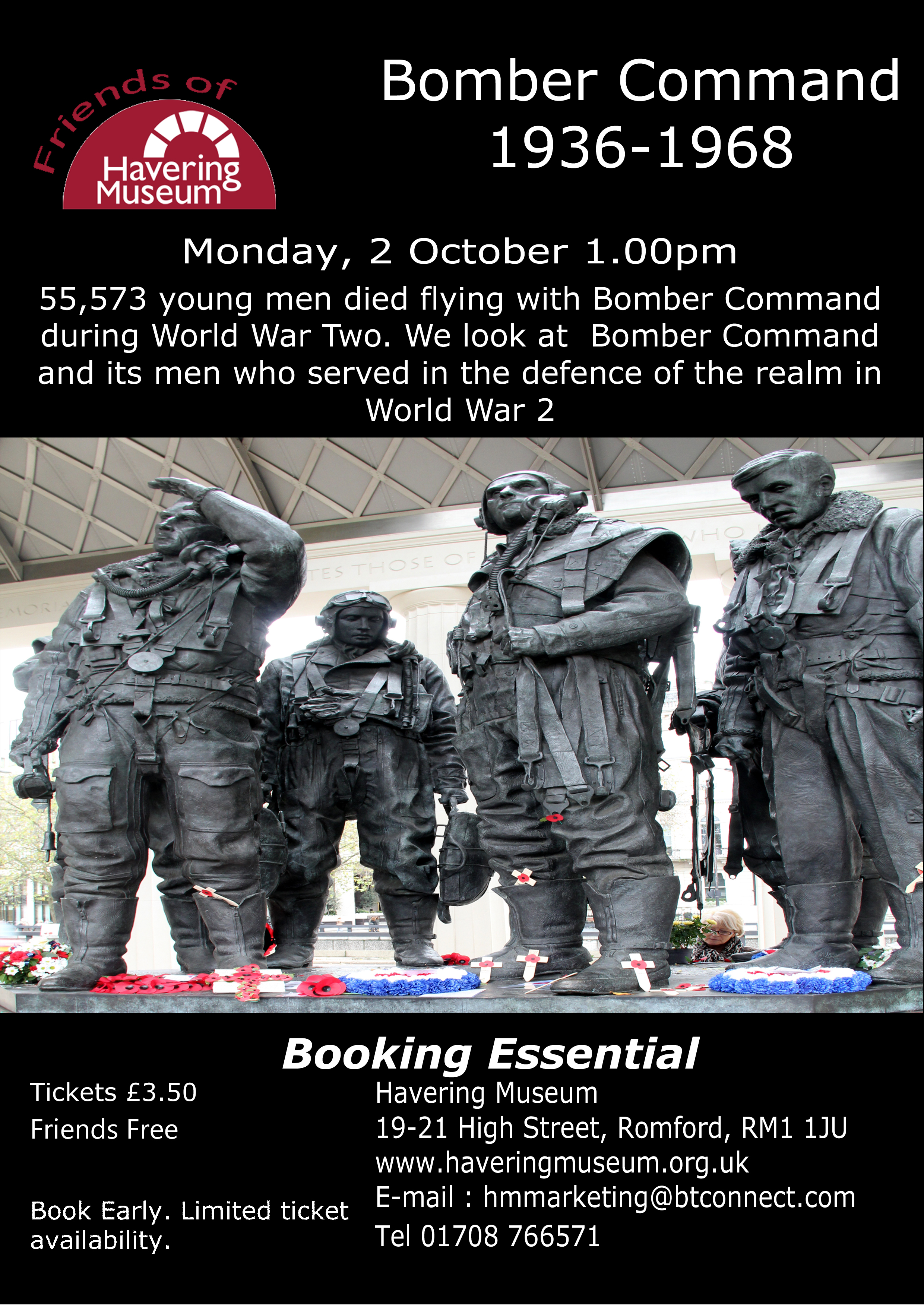 Forgotten Heroes of Bomber Command – a talk by Havering